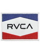 RVCA Nation Patch  Red