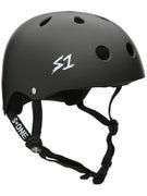 S-One Premium Skateboard Helmet  Matte Black