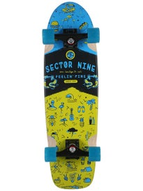 Sector 9 Shindig Blue Complete  8.5 x 30