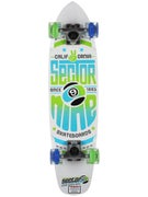 Sector 9 The Wedge Wht w/LED Wheels Complete  7.25x31.3