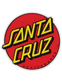 Santa Cruz Classic Dot 6 Sticker\ Red/Yellow