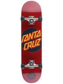 Santa Cruz Classic Dot Burgundy Complete 7.5 x 30.6