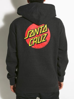 Santa Cruz Classic Dot Hoodie MD Charcoal Hthr