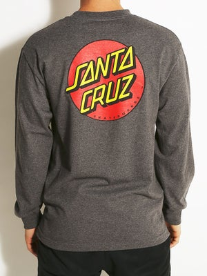 Classic Dot Longsleeve Tee Heather Charcoal LG