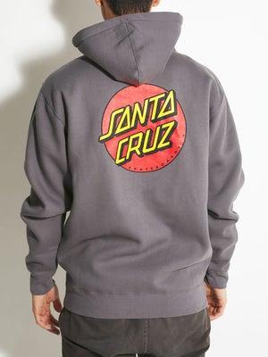 Santa Cruz Classic Dot Hoodzip Charcoal MD