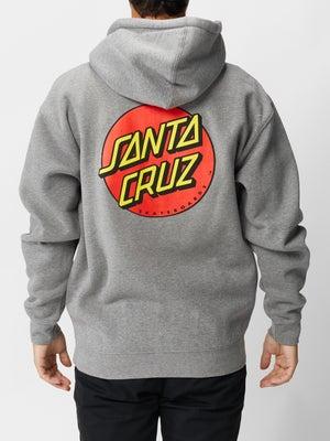 Santa Cruz Classic Dot Hoodzip MD Charcoal