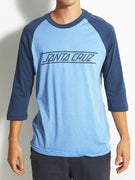 Santa Cruz Classic Strip 3/4 Sleeve Raglan