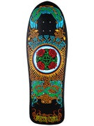 Santa Cruz Dressen Roses Matte Black Deck  10.3 x 31.6