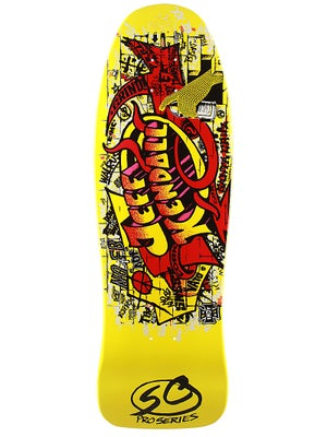 Santa Cruz Kendall Graffiti Yellow Deck  9.6 x 30