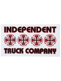 Independent Stacked Color Sticker Red