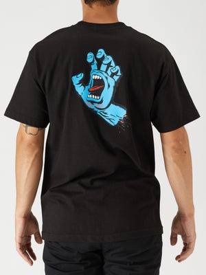Santa Cruz Screaming Hand Tee SM Black