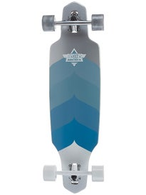 Dusters Wake Drop-Thru Chrome/Blue Longboard\ .125x34
