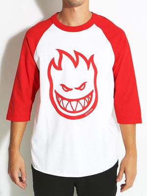 Spitfire Bighead 3/4 Sleeve Shirt White/Red XL