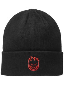 Spitfire Bighead Embroidered Cuff Beanie Black/Red