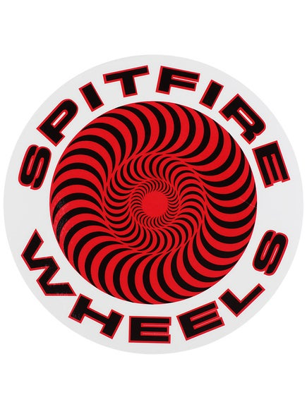 Spitfire Classic Sticker Large Red