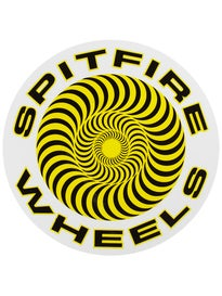 Spitfire Classic Sticker Large Yellow