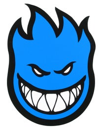 Spitfire Fireball Sticker Large BLUE