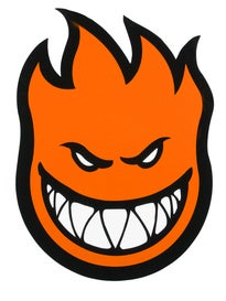 Spitfire Fireball Sticker Large ORANGE