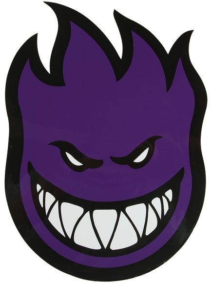Spitfire Fireball Sticker Large Purple