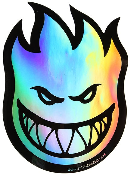 Spitfire Fireball Prism Sticker Medium