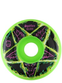 Spitfire Pentagram Neon Green Classic 99a Wheels