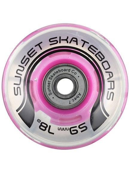Sunset Flare Purple LED Wheels  59mm