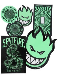 Spitfire Stay Lit Glow in the Dark Stickers 6 Pack