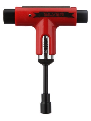 Silver 10 Year Anniversary Ratchet Tool Red