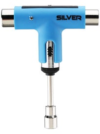 Silver Neon Collection Ratchet Tool  Neon Blue/Silver
