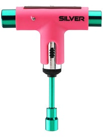 Silver Neon Collection Ratchet Tool  Neon Pink/Green