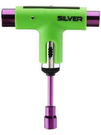 Silver Neon Collection Ratchet Tool  Neon Green/Purple