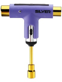 Silver Neon Collection Ratchet Tool  Neon Purple/Gold