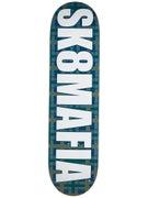 Sk8 Mafia OG Logo Plaid Blue Deck 8.19 x 32