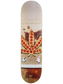 Skate Mental Pizza Leaf Deck 8.125 x 31.625