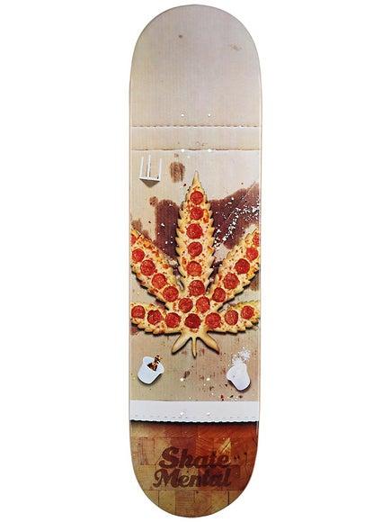 Skate Mental Pizza Leaf Deck 8.125 x 31.625