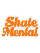 Skate Mental Script Sticker Blaze Orange