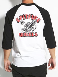 Spitfire Clean Burner 3/4 Sleeve Raglan T-Shirt