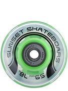 Sunset Flare Blacklight LED Wheels  59mm