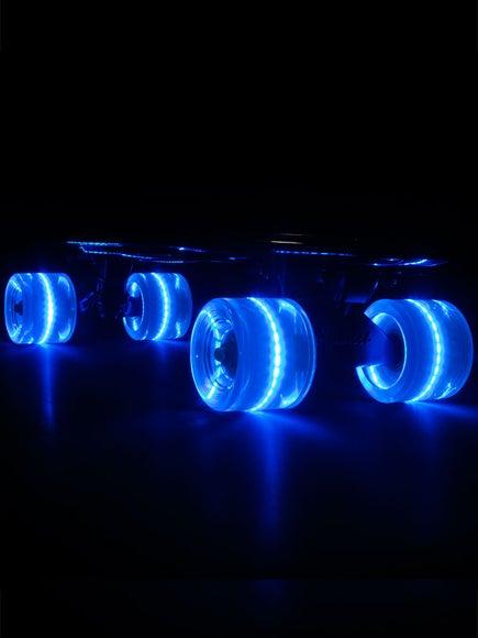 Sunset Flare Blue LED Wheels  59mm