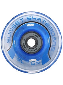 Sunset Flare Blue LED Wheels  59mm