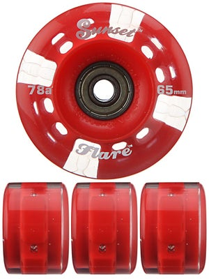 Sunset Flare Red LED Round Wheels  65mm