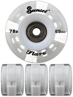 Sunset Flare White LED Round Wheels  65mm