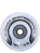 Sunset Flare White LED Wheels  59mm