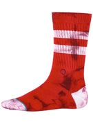 Stance Burned Socks  Red