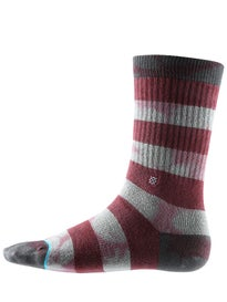 Stance Wells Socks  Burgundy