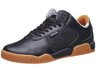 Supra Ellington Shoes  Black Leather/Gum