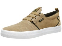 Supra Flow Shoes Tan/Dark Olive-White