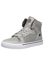 Supra Kids Vaider Shoes Grey/Black/White