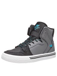 Supra Kids Vaider Shoes Charcoal/Turquiose