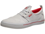 Supra Slappy Curbs Flow Shoes Grey/Red-Grey
